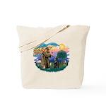 St Francis #2/ Belgian Shep Tote Bag