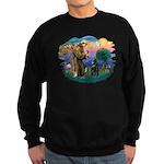 St Francis #2/ Belgian Shep Sweatshirt (dark)