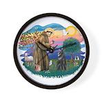 St Francis #2/ Belgian Shep Wall Clock