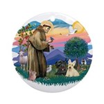 St Francis #2/ Scottys (2) Ornament (Round)