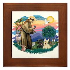 St Francis #2/ Scottys (2) Framed Tile