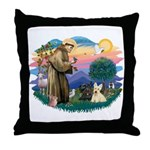 St Francis #2/ Scottys (2) Throw Pillow