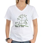 Plant A Tree Women's V-Neck T-Shirt