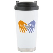 Art in Clay / Heart / Hands Travel Mug