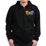Art in Clay / Heart / Hands Zip Hoodie (dark)