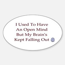 open mind ... Oval Decal