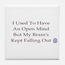open mind ...  Tile Coaster