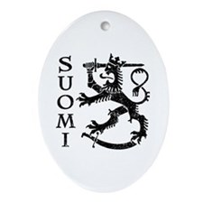 Suomi Coat of Arms Ornament (Oval)