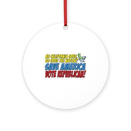 Save America, Vote Republican Ornament (Round)