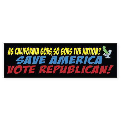 Save America, Vote Republican Sticker (Bumper)