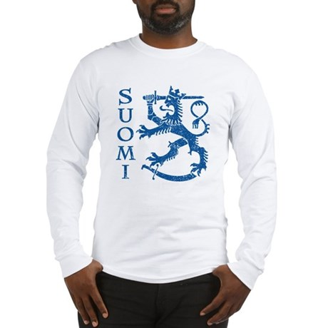 Suomi Coat of Arms Long Sleeve T-Shirt