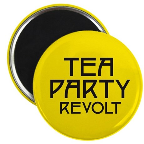 "Tea Party Revolt (plain) 2.25"" Magnet (100 pack)"