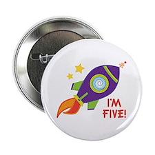 "5th Birthday Rocketship 2.25"" Button"