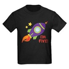 5th Birthday Rocketship T