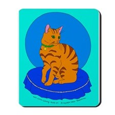 Pretty Red Kitty Mousepad