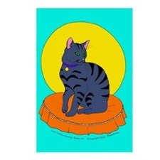 Pretty Grey Kitty Postcards (Package of 8)