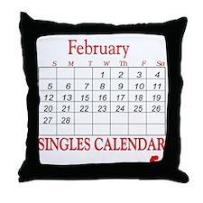 Singles Calendar Throw Pillow