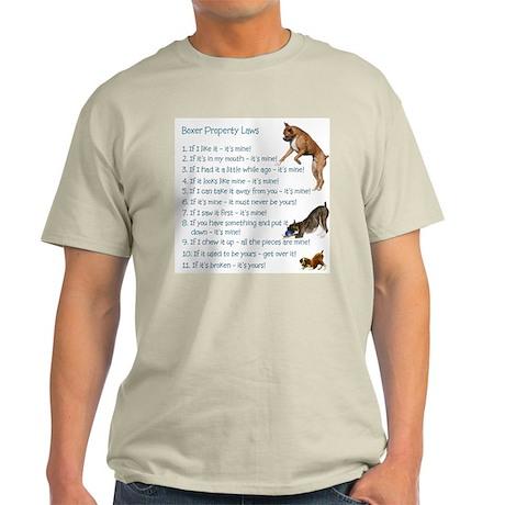 Boxer Rules Ash Grey T-Shirt
