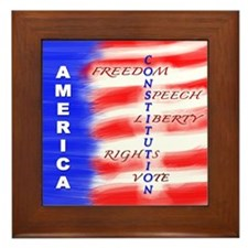 America Constitution Framed Tile