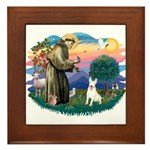 St Francis #2/ Bull T (#4) Framed Tile