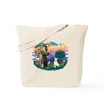 St Francis #2/ Bull T (#4) Tote Bag