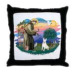 St Francis #2/ Bull T (#4) Throw Pillow
