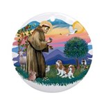 St Francis #2/ Cavalier (2 bl) Ornament (Round)