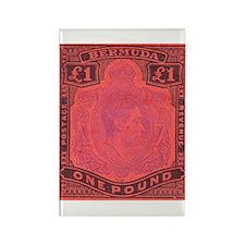 Bermuda KGVI One Pound Rectangle Magnet