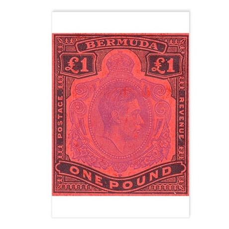 Bermuda KGVI One Pound Postcards (Package of 8)