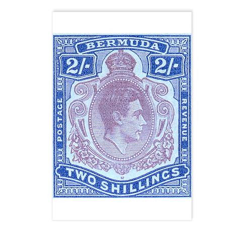 Bermuda KGVI 2s Postcards (Package of 8)