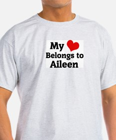 My Heart: Aileen Ash Grey T-Shirt