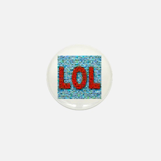 LOL Photo Montage Mini Button