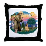 St Francis #2/ Shar Pei (#2) Throw Pillow