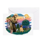 St Francis #2/ Shar Pei (#2) Greeting Card