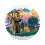 St Francis #2/ Shar Pei (#3) Ornament (Round)