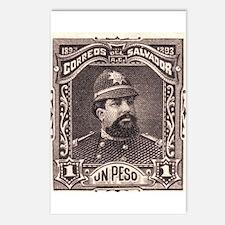 El Salvador Police 1p Postcards (Package of 8)