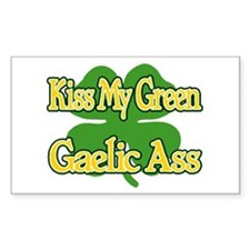 kiss my green gaelic ass Decal