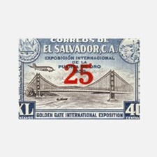 El Salvador Expo 25c Rectangle Magnet