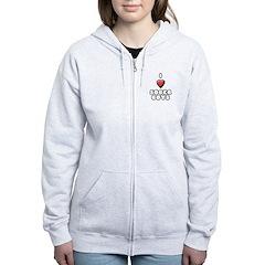 I heart sober boys Women's Zip Hoodie