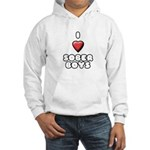 I heart sober boys Hooded Sweatshirt