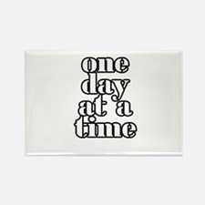 One day at a time Rectangle Magnet (10 pack)