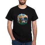 St Francis 2F - Two Shelties Dark T-Shirt