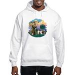 St Francis 2F - Two Shelties Hooded Sweatshirt