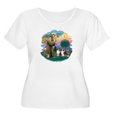 St Francis 2F - Two Shelties T-Shirt