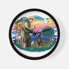 St Francis #2/ Doberman Wall Clock