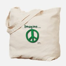 Imagine Peace - Tote Bag - Green