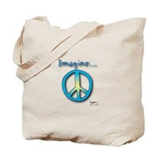 Imagine Peace - Tote Bag - Blue-Yellow