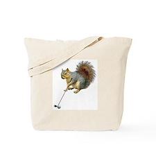 Golfing Squirrel Tote Bag