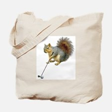 Golfing Squirrel Tote Bag