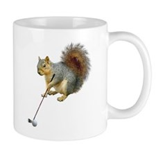 Golfing Squirrel Small Mug